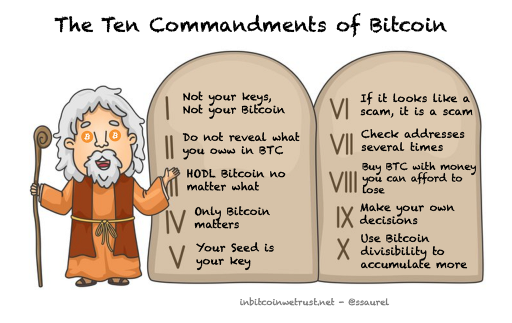 The Ten Commandments of Bitcoin