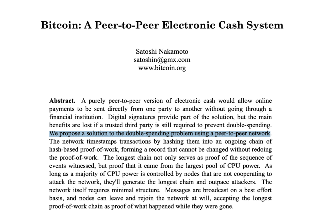 Bitcoin White Paper has changed my life